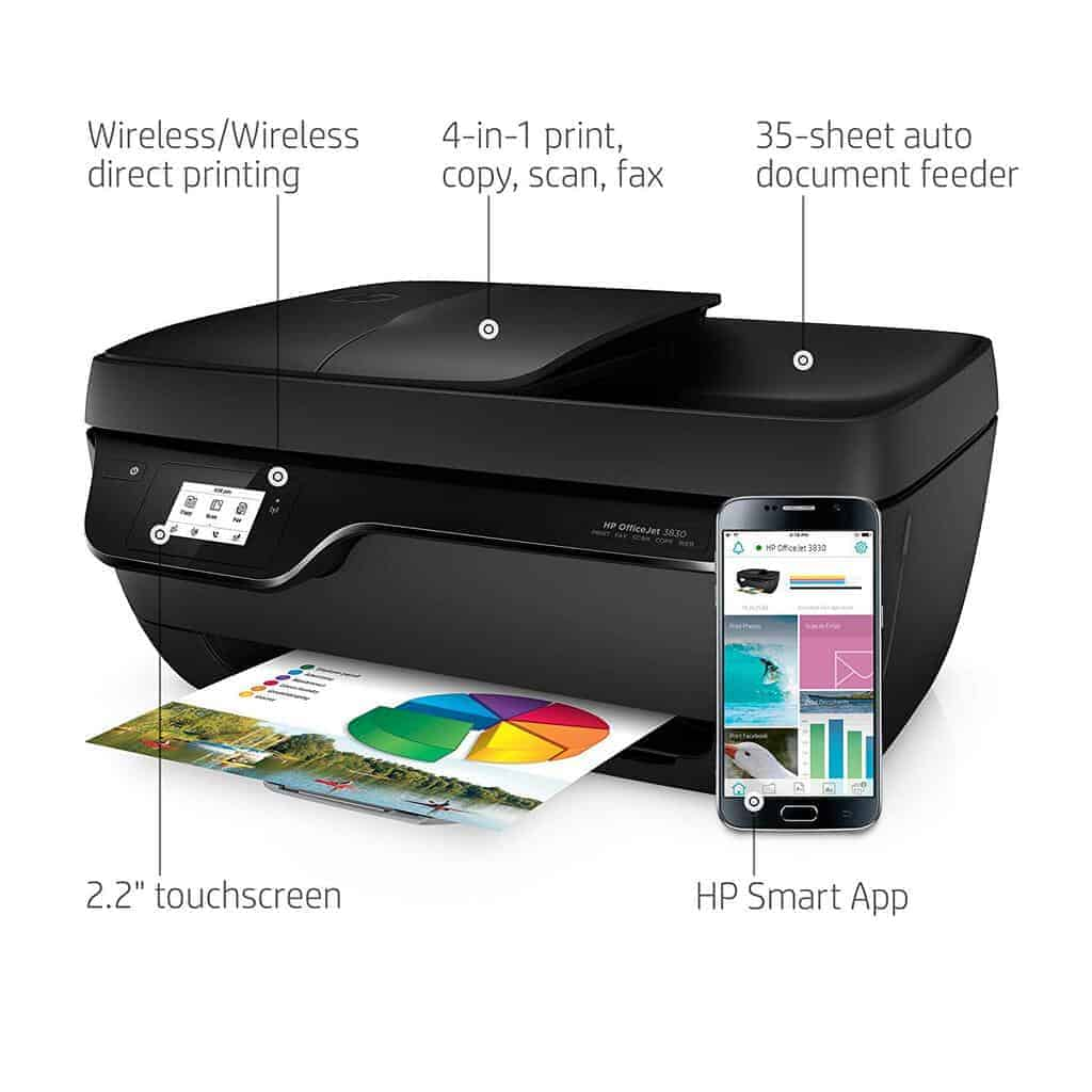 HP OfficeJet 3830 All-in-One Wireless Printer