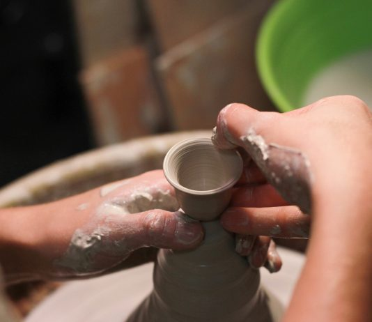 making pottery to sell